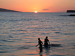 Big Beach at sunset, Makena