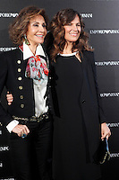 Nati Abascal and Roberta Armani attends the Emporio Armani Boutique opening at Serrano street in Madrid, Spain. April 08, 2013. (ALTERPHOTOS/Caro Marin) /NortePhoto