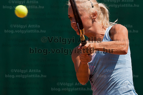 Klara Zakopalova from the Czech Republic plays her winning qualifying match against Xinyun Han (not pictured) from China during the WTA tour Budapest Grand Prix international women tennis competition held at Roman Tennis Academy in Budapest, Hungary. Tuesday, 06. July 2010. ATTILA VOLGYI