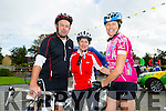 Philip Healy, Betty Healy and Ursula McCarthy at the Ardfert Harvest Cycle on Saturday