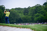 Jordan Spieth (USA) hits his approach shot on 1 during round 4 of the Dean &amp; Deluca Invitational, at The Colonial, Ft. Worth, Texas, USA. 5/28/2017.<br /> Picture: Golffile | Ken Murray<br /> <br /> <br /> All photo usage must carry mandatory copyright credit (&copy; Golffile | Ken Murray)
