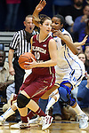 22 February 2013: Florida State's Leonor Rodriguez (ESP) (10) and Duke's Richa Jackson (behind). The Duke University Blue Devils played the Florida State University Seminoles at Cameron Indoor Stadium in Durham, North Carolina in a 2012-2013 NCAA Division I and Atlantic Coast Conference women's college basketball game. Duke won the game 61-50.