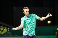 Rotterdam, The Netherlands, 11 Februari 2019, ABNAMRO World Tennis Tournament, Ahoy, first round doubles: Henri Kortinen (FIN),<br /> Photo: www.tennisimages.com/Henk Koster