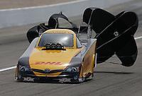 Apr. 7, 2013; Las Vegas, NV, USA: NHRA funny car driver Del Worsham during the Summitracing.com Nationals at the Strip at Las Vegas Motor Speedway. Mandatory Credit: Mark J. Rebilas-