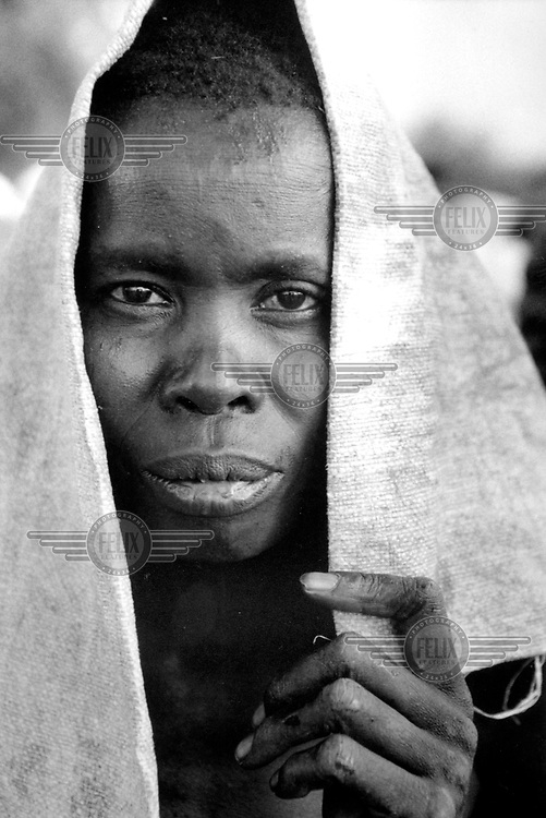©Sean Sprague/Panos Pictures..Nimule, South Sudan. Displaced person at Aswa camp.