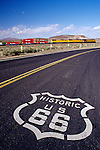 Sign on old highway Route 66 Barstow California USA.
