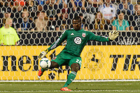 D. C. Unitedgoalkeeper Bill Hamid (28). The Philadelphia Union defeated D. C. United 2-0 during a Major League Soccer (MLS) match at PPL Park in Chester, PA, on August 10, 2013.