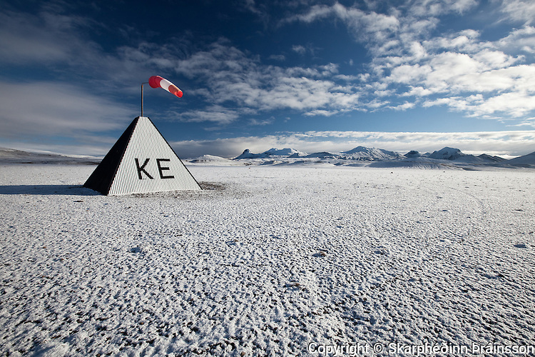 The airport in Kerlingarfjöll, central highlands of Iceland
