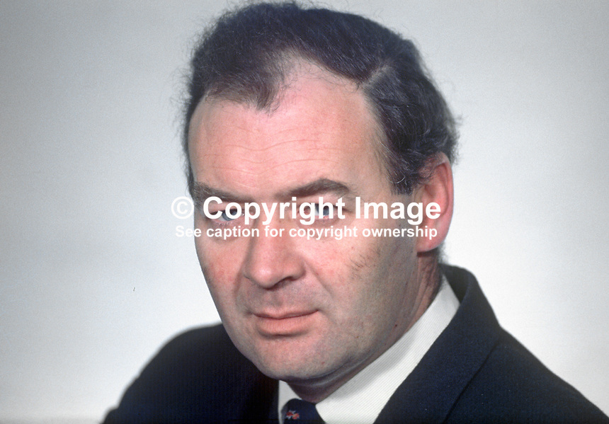 John Dobson, MP, Ulster Unionist, N Ireland Parliament, Stormont, N Ireland, 196903000099JD1<br />