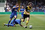 Hoffenheim 21.06.2008, Deutsche Meisterschaft der B-Junioren TSG 1899 Hoffenheim - Borussia Dortmund, Daniel Cinczek (Borussia Dortmund) hinter ihm Christian Grassel (TSG 1899 Hoffenheim) und Anthony Loviso (TSG 1899 Hoffenheim)<br /> <br /> Foto &copy; Rhein-Neckar-Picture *** Foto ist honorarpflichtig! *** Auf Anfrage in h&ouml;herer Qualit&auml;t/Aufl&ouml;sung. Belegexemplar erbeten.