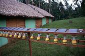 Tataquara, Amazon, Brazil. Ecotourism - living quarter; solar power torches.