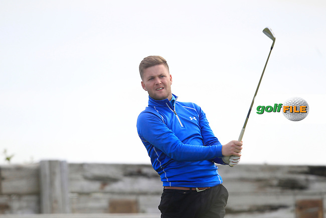 Dwayne Mallon (Dungannon) on the 6th tee during Round 2 of the North of Ireland Amateur Open Championship at Royal Portrush, Dunluce Course on Tuesday 14th July 2015.<br /> Picture:  Thos Caffrey / www.golffile.ie