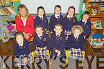 Big smiles for the boys and girls from Scoil Mhuire who started their school days on September 1st in Knocknagoshel...Teacher Maire Collins: