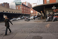 New York, NY - Scene outside Hogs and Heffers on Washington Street in the Meat packing District