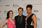 Olympic Skaters Meryl Davis & Charlie White with Tamara Tunie (ATWT) - The 11th Annual Skating with the Stars Gala - a benefit gala for Figure Skating in Harlem - honoring Meryl Davis & Charlie White (Olympic Ice Dance Champions and Meryl winner on Dancing with the Stars) and presented award by Tamron Hall on April 11, 2016 on Park Avenue in New York City, New York with many Olympic Skaters and Celebrities. (Photo by Sue Coflin/Max Photos)