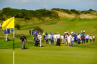 The crowds during the final of the AIG Irish Close Championship, The European Club, Wicklow, Ireland. 08/08/2018.<br /> Picture Fran Caffrey / Golffile.ie<br /> <br /> All photo usage must carry mandatory copyright credit (&copy; Golffile | Fran Caffrey)