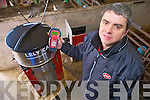 Donagh Crowley, Beaufort, manager Lely dairy products, with the Lely Calm Calf feeder in his family farm in Beaufort...