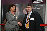 President of the Chamber of Commerce, Patricia Rooney with Managing Director of the Drogheda Office of Home Instead, Michael Rigney at the Launch of Home Instead Senior Care Office in Drogheda in the d Hotel...Photo NEWSFILE/Jenny Matthews.(Photo credit should read Jenny Matthews/NEWSFILE)....This Picture has been sent you under the condtions enclosed by:.Newsfile Ltd..The Studio,.Millmount Abbey,.Drogheda,.Co Meath..Ireland..Tel: +353(0)41-9871240.Fax: +353(0)41-9871260.GSM: +353(0)86-2500958.email: pictures@newsfile.ie.www.newsfile.ie.FTP: 193.120.102.198.