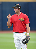 Rochester Red Wings Josh Rabe during warmups before the Triple-A All-Star Game at Fifth Third Field on July 12, 2006 in Toledo, Ohio.  (Mike Janes/Four Seam Images)