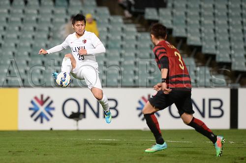 21.04.2015. Sydney, Australia. AFC Champions League. Western Sydney Wanderers versus Kashima Antlers. Kashima midfielder Yasushi Endo. Kashima won 2-1.