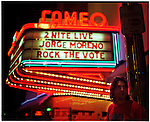 Jorge Moreno 2002 Best New Artist Winner of the Latin Grammy performs for Rock the Vote at Miami Beach's Cameo Theather, Miami, Florida.