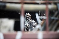 SÃO PAULO, SP - 04.02.2014 -  Incêndio atinge o Centro Cultural da oficina do Liceu de Artes e Ofícios, na madrugada desta terça-feira (04), na Rua da Cantareira, região do bairro da Luz, no centro da cidade de São Paulo, SP. Equipes do Corpo de Bombeiros estiveram no local e controlaram as chamas. Não há informações sobre possíveis feridos e as causas do fogo .(Foto: Adriano Lima / Brazil Photo Press)