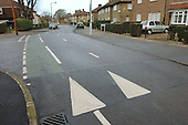 Road humps in Lewisham, London.