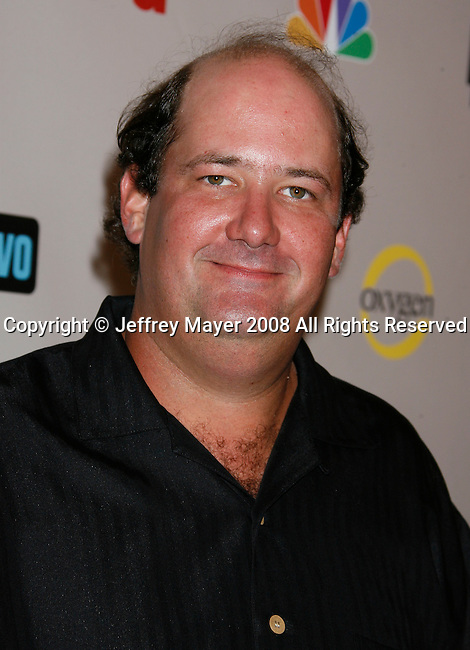 Actor Brian Baumgartner arrives at the NBC Universal 2008 Press Tour All-Star Party at The Beverly Hilton Hotel on July 20, 2008 in Beverly Hills, California.