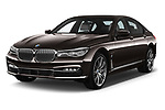 2018 BMW 7 Series Plug-In Hybrid 740Le iPerformance 4 Door Sedan angular front stock photos of front three quarter view
