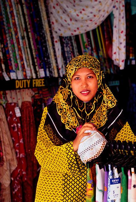 Fabric shop, Kuah, Langkawi Island, Kedah State, Malaysia, Asia