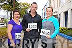 Bridget O'Keeffe, John Fenton and Sandra McSherry from Killarney at the Red Cross 10k Run on Sunday
