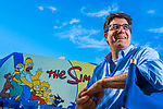 The Simpsons executive producer Joel Cohen, at the Fox studios in Los Angeles, California, on March 23, 2016.