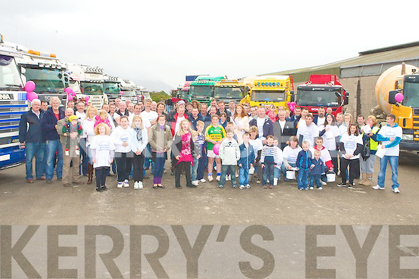 SCANIA CONVOY: Scania Truckers who gathered at the Mart, Tralee to start their two day convoy around the Ring of Kerry in aid of the Children Leukemia Assicoation on Saturday.