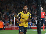 Arsenal's Theo Walcott celebrates scoring his sides opening goal during the Champions League group A match at the Emirates Stadium, London. Picture date September 28th, 2016 Pic David Klein/Sportimage