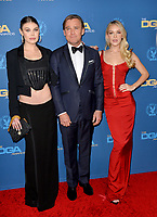 LOS ANGELES, USA. January 25, 2020: Cambrie Schroder, Ricky Schroder & Faith Schroder at the 72nd Annual Directors Guild Awards at the Ritz-Carlton Hotel.<br /> Picture: Paul Smith/Featureflash