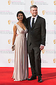London, UK. 8 May 2016. Konnie Huq and Charlie Brooker. Red carpet  celebrity arrivals for the House Of Fraser British Academy Television Awards at the Royal Festival Hall.