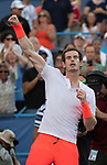 August 1,2018:  Andy Murray (GBR) defeated Kyle Edmund (GBR) 3-6, 6-4, 7-5, at the CitiOpen being played at Rock Creek Park Tennis Center in Washington, DC, .  ©Leslie Billman/Tennisclix/CSM
