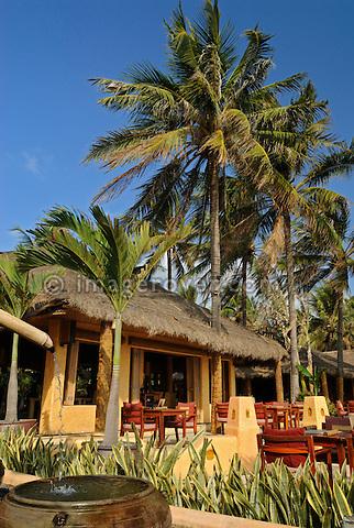 "Asia, Vietnam, Nha Trang. The famous ""Sailing Club"" beach bar at Nha Trang's beach promenade Tran Phu."
