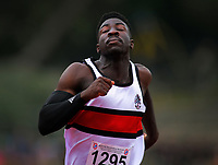 Edward Osei-Nketia (Scots College) competes in the 100m senior boys quarterfinal heats at the New Zealand Secondary Schools Athletics Championships at Newtown Park in Wellington, New Zealand on Saturday, 7 December 2019. Photo: Dave Lintott / lintottphoto.co.nz