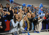 NWA Democrat-Gazette/ANDY SHUPE<br /> Har-Ber fans cheer Saturday, Dec. 5, 2015, against Fayetteville during the first half of the Class 7A state championship game at War Memorial Stadium in Little Rock. Visit nwadg.com/photos to see more photographs from the game.