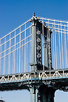 New York City, New York: Bridge  .Photo #: ny254-14585  .Photo copyright Lee Foster, www.fostertravel.com, lee@fostertravel.com, 510-549-2202.