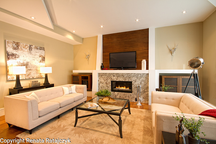 Family Room - home staging photography for CM Staging Solutions, Toronto.