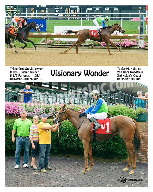 Visionary Wonder winning at Delaware Park on 9/30/15