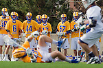 Los Angeles, CA 02-26-17 - Elliot Stanger (UCSB #26), \s6\, Kai  Welsh (UCSB #44), Kurt Landon (UCSB #17), \s57\, \s52\ in action during the MCLA conference game between LMU and UC Santa Barbara.  Santa Barbara defeated LMU 15-0.