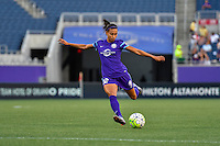 Orlando, FL - Thursday June 23, 2016: Kristen Edmonds during a regular season National Women's Soccer League (NWSL) match between the Orlando Pride and the Houston Dash at Camping World Stadium.