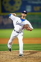 Chattanooga Lookouts pitcher Dallas Gallant (18) delivers a pitch during a game game against the Jacksonville Suns on April 30, 2015 at AT&T Field in Chattanooga, Tennessee.  Jacksonville defeated Chattanooga 6-4.  (Mike Janes/Four Seam Images)