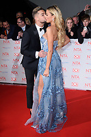 Chris Hughes &amp; Olivia Attwood at the National Television Awards 2018 at the O2 Arena, Greenwich, London, UK. <br /> 23 January  2018<br /> Picture: Steve Vas/Featureflash/SilverHub 0208 004 5359 sales@silverhubmedia.com