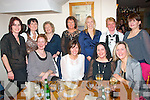 PARTY ON THE DOUBLE: Mary Kelliher, Ballyard, Tralee and Mary Corcoran, Killarney (seated 2nd and 3rd left) who held a double birthday celebration in Bella Bia restaurant, Tralee last Friday night. Pictured here front l-r: Mary Scannell, Mary Kelliher, Mary Corcoran and Teresa O'Brien. Back l-r: Leza O'Donoghue, Ann O'Connor, Mary Walsh, Mary Doody, Siobhan Bowler, Mary Regan and Hilda Fitzmartin..