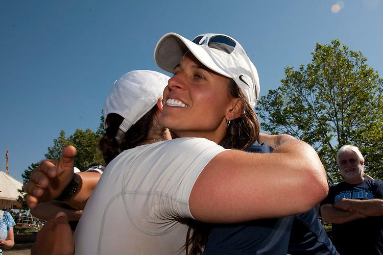 May 12, 2012; Gold River, CA, USA; San Diego Toreros team during the WCC Rowing Championships at Lake Natoma.