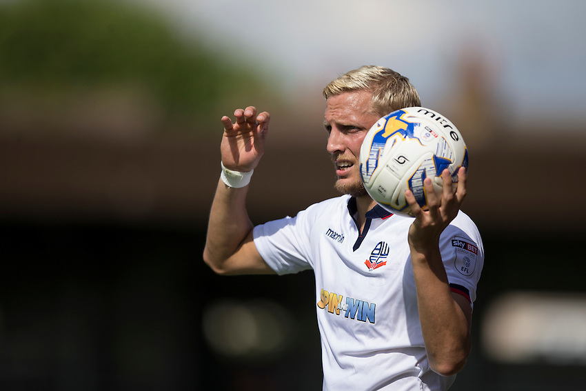 Bolton Wanderers' Dean Moxey in action<br /> <br /> Photographer Craig Mercer/CameraSport<br /> <br /> Football - The EFL Sky Bet League One - AFC Wimbledon v Bolton Wanderers - Saturday 13th August 2016 - The Cherry Red Records Stadium - London<br /> <br /> World Copyright &copy; 2016 CameraSport. All rights reserved. 43 Linden Ave. Countesthorpe. Leicester. England. LE8 5PG - Tel: +44 (0) 116 277 4147 - admin@camerasport.com - www.camerasport.com